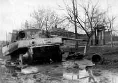 A knocked out Tiger outside Kharkov, 1943