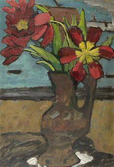gabriel munter images   MÜNTER, GABRIELE(Berlin 1877 - 1962 Murnau)Tulips - by Koller ...