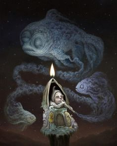 'Eternally Waiting' by Matt Dangler. Find out more about Matt and see more of his wonderful art in his interview at wowxwow.com. (painting, fantasy, narrative, surreal, surrealism, creatures, mystery, symbolism)