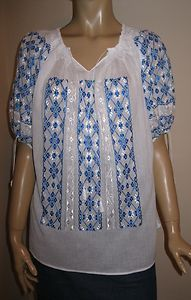 Womens Mulberry Silk Business Dress Shirts Blouse Slim Fit All Size White Silk, Blue And White, Peasant Blouse, Silk Thread, Embroidered Blouse, Eminem, Beautiful Hands, Hand Embroidery, Hand Sewing
