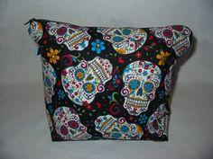 Sugar Skull Project Bag by EatKnitandDye on Etsy