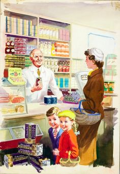 Ladybird By Design, Shopping with Mother, Harry Wingfield, Ladybird Books Ltd, 1958
