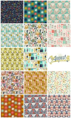 Cotton + Steel Collection: August by Sarah Watts - Fat Quarter Shop's Jolly Jabber