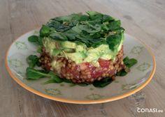 Tartar vegetariano de lentejas y aguacate - Blog Conasi