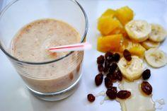 pineapple banana raisin smoothie - use almond milk!!!!!