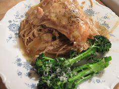 Slow-cooker garlic chicken.