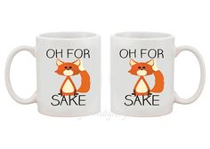 Oh For Fox Sake White or Black 11 oz Mug Great by MargoMagicJewel