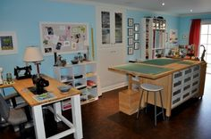 Sewing studio space at KSC Designs.