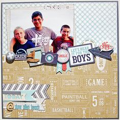 Feb2014  kit - Echo Park That's My boy collection-Boys *Scraptastic*