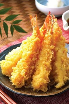 Dip-fried shrimp.Very tasty Japanese appetizer.