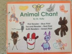 "Dr. Jean's, ""Animal Chant"" (encourages oral language, tracking from left to right, rhyming)"