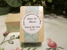 Natural Love In Bloom Salt Bar. You will get one of these awesome salt bars.  5.5 oz  INCI Ingredients: Lye, Distilled Water, Coconut Oil, Olive Oil, Shea Butter, Sea Salt, Fragrance Oil    sea salt is good for stress reducer, exfoliate, detoxifier.    coconut oil is good for anti-aging, vitamin e, moisturizing,     olive oil is good for anti-inflammatory    shea butter is good for antioxidants, healing properties, anti-inflammatory, anti-aging, moisturizer. | Shop this product here…