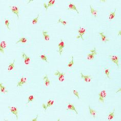Antique Flower Pastel Aqua by Lecien Fabrics Cotton Fabric Yardage Aqua Background, Best Graphics, Rose Buds, Cotton Fabric, Pastel, Antiques, Flowers, Pink, Fabrics