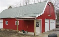 red gambrel style pole barn homes - - Yahoo Image Search Results