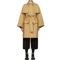 Cyclas Tan Oversized Trench Coat - Wrap up in this fashion forward, long sleeve cotton trench coat in 'ochre' tan. This coat is an uptown classic reinvented for the downtown girl! Its concealed zip closure provides protection from the elements so you'll be able to hit the dog park, rain or shine.
