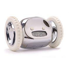 Clocky Alarm Clock Chrome