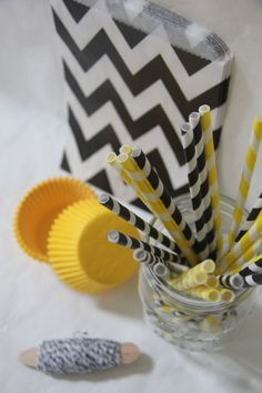 Bash in a Box: Bumblebee Party Pack - Black and Yellow  @shoplemondrops on etsy