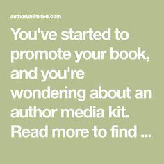 Author Media Kit: Include 8 essential items | KP | Pinterest | Media ...