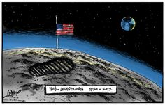Neil Armstrong Tribute, Sean Leahy, The CourierMail | Political Cartoons Australia
