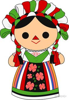 Mexican Fiesta Party, Fiesta Theme Party, Doll Drawing, Hispanic Heritage Month, Cute Drawings, Coloring Books, Folk Art, Chibi, Hello Kitty