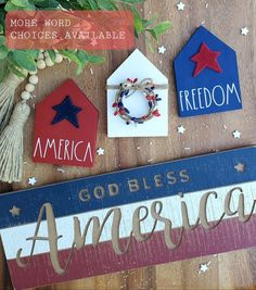 4th July Crafts, Fourth Of July Decor, 4th Of July Fireworks, 4th Of July Decorations, Patriotic Crafts, Americana Crafts, July 4th, Diy Resin Crafts, Dollar Store Crafts
