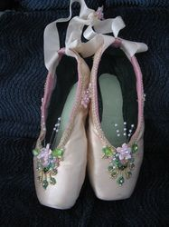 delicate pink ballet slippers