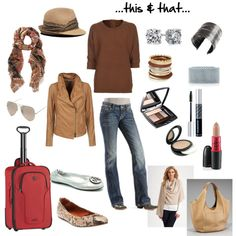 Neutral travel outfit. Simple yet chic. Versatile.
