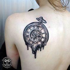 Melting watch. #blackandgrey #tattoo #tatuaje #tatuagem #insightstudios1062