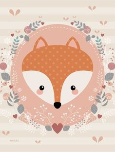 Leading Illustration & Publishing Agency based in London, New York & Marbella. Fox Illustration, Illustrations, Cute Images, Cute Pictures, Woodland Animals Theme, Image Deco, Fox Party, Baby Posters, Cute Drawings