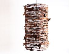 Twisted – Willow & Bangalow Palm Inflorescence Pendant Light  Harriet Goodall Handmade  Southern Highlands / New South Wales.       http://www.countryculture.com.au/twisted-willow-and-bangalow-palm-inflorescence.html#