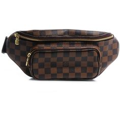 LOUIS VUITTON Damier Ebene Bum Melville Fanny Pack ❤ liked on Polyvore featuring bags, fanny bag, waist fanny pack, fanny pack bags, belt fanny pack and canvas bags