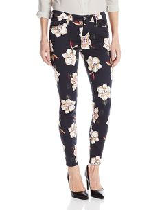 7 For All Mankind Women's the Ankle Skinny with Contour Wb in Calypso Floral * This is an Amazon Affiliate link. Find out more about the great product at the image link.