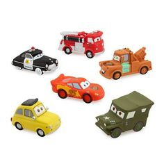 Disney Pixar Cars Character Bath Toys - Disney Parks Exclusive On your mark, get set, go! He'll love this soft and lovable crew featuring the cast of Disney/Pixar's Cars. Six squeezable plastic charac
