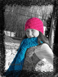 Diamond Rose Crafts: Basket Weave Hat free crochet Pattern