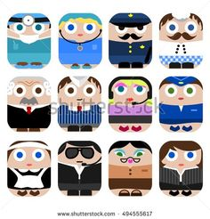 Cute profession icons