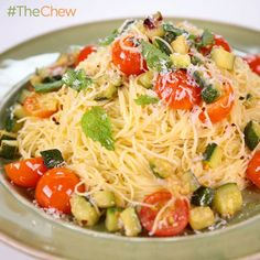 Michael Symon's Angel Hair with Zucchini and Mint #TheChew