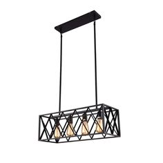 mirrea Vintage Pendant Light Fixture 4 Lights in Rectangle Frame Shade Matte Metal Black Painted Finish Industrial Ceiling Lights, Vintage Pendant Lighting, Pendant Light Fixtures, Pendant Lights, Lamp Socket, Dining Room Lighting, Paint Finishes, Amber Glass, Bulb
