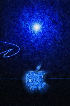 Blue creative design Apple iPhone Wallpaper | 640x960 iPhone 4 (4S) wallpaper download | iWALL365.com