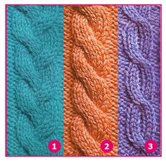 Knitting Stiches, Cable Knitting, Sweater Knitting Patterns, Knit Patterns, Stitch Patterns, Knitting Projects, Crochet Projects, Afghan Patterns, Knitted Hats