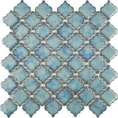 porcelain tile for bathroom teal arabesque - Google Search