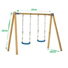 Specificatie Schommel 'Fleur' van WoodVision is een mooie stabiele kinderschommel waar kinderen heerlijk kunnen uitwaaien. De kinder schommel is gemaakt van groen geïmpregneerde grenenhout palen. De palen worden bevestigt met de groen metalen slotbouten. De schommel wordt compleet geleverd met ophangbeugels met karabijnhaken, 2 hoekverbindingen, afdekdoppen en schommelzitjes met verstelbare touwen. Indruk Afmetingen en informatie Afmetingen:200 x270 x250 cm (L x B x H) Afmeting balkhout: Outdoor Playground, Porch Swing, Outdoor Activities, Wardrobe Rack, Furniture, Home Decor, Outdoor Playset, Decoration Home, Room Decor