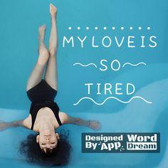 word,dream,sea,love