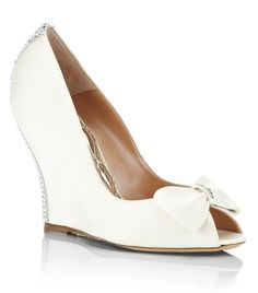 Aruna Seth Colette Satin Wedge (Bridal Shoes)