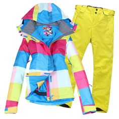2013 new fashion women ski snowboard colorful snow suits jacket pants thermal waterproof warm winter best sport free shipping $175.50