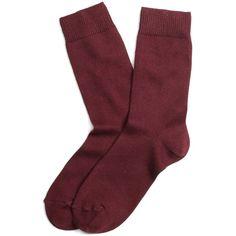 Brooks Brothers Crew Socks (331155 BYR) ❤ liked on Polyvore featuring intimates, hosiery, socks, accessories, fillers, shoes, wine, crew socks, crew length socks and brooks brothers socks
