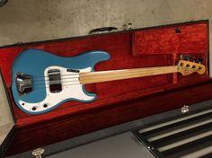 Fender Fretless Precision 1978 Maui Blue ( Rare International | Reverb Fender Jazz Bass, Bass Guitars, Fender Precision Bass, Telecaster Guitar, Low End, Maui, The Originals, Color, Design