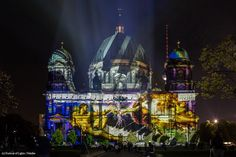 Artist: Georg Reisch. The #FestivalOfLights has invited ten #designers, #creatives and #artists to design the facade of the #BerlinCathedral under the motto #ColoursOfJoy.   #BerlinerDom #Berlin #Colours #Light