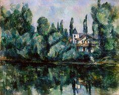 Paul Cézanne, Le rive della Marna, 1888-1890. Olio su tela, 65×81 cm. Museo dell'Ermitage, San Pietroburgo