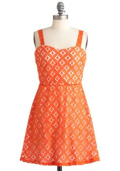 Tangible in Tangerine Dress, #ModCloth