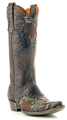 Old Gringo Erin Womens Boots Chocolate $500 Retail Western Fancy Floral Stitch   eBay these are pretty boots too